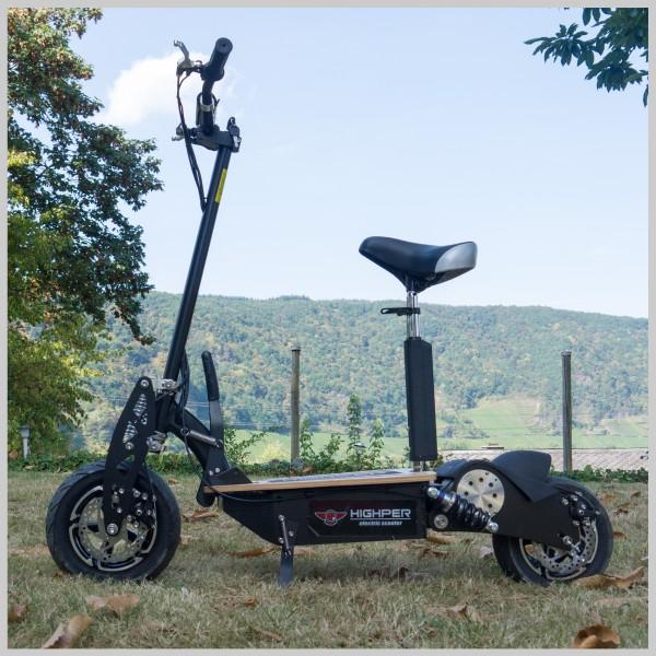 e scooter elektrischer tretroller mit 1500 watt 48volt. Black Bedroom Furniture Sets. Home Design Ideas