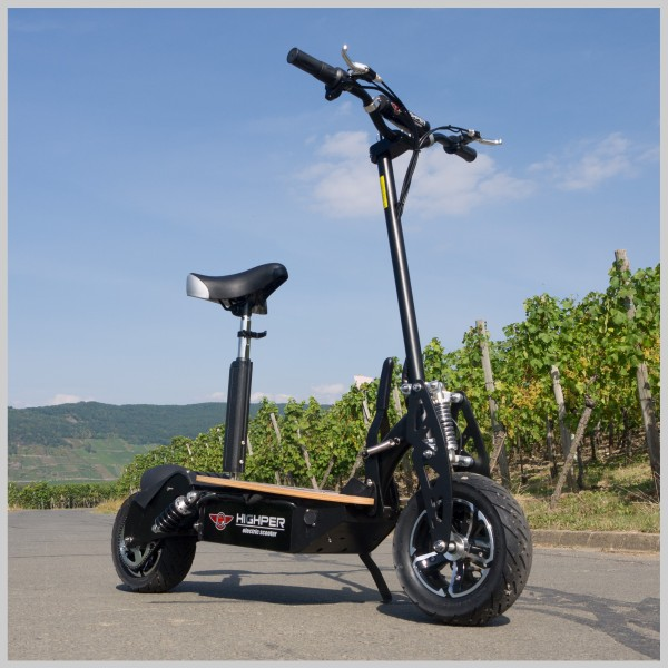e scooter elektrischer tretroller mit 1500 watt 48volt. Black Bedroom Furniture Sets. Home Design Ideas