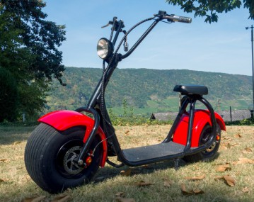 E-Scooter Big Wheeler Chopper Roller mit 800 Watt - 60Volt Lithium Akkupack