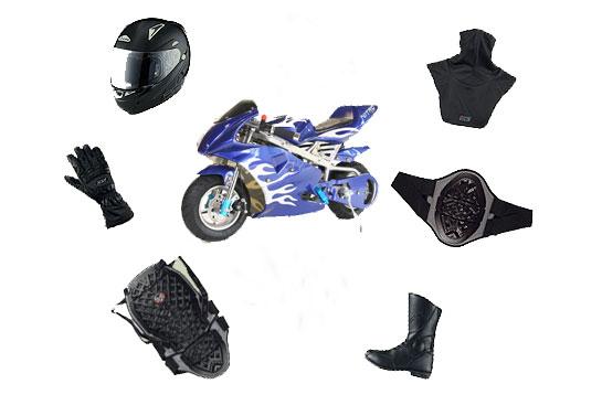 Schutzkleidung für Pocketbikes