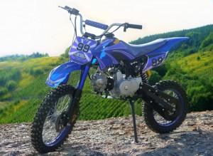 125ccm Automatik Dirtbike Cross Bike 17/14 Reifen inkl. E-Starter 001