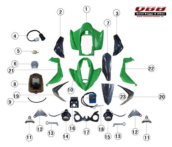 JLA-21B Ersatzteile Verkleidung