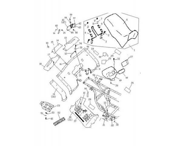 Buyang FA-D300 Verkleidungen Hinten-Unten-Seite