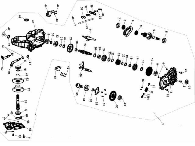 Buyang FA-D300 Getriebe