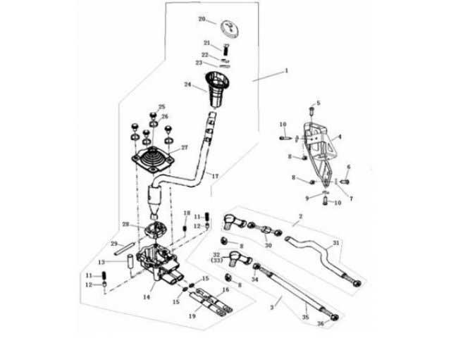Buyang FA-D 300 Schaltgestaenge-Hebel