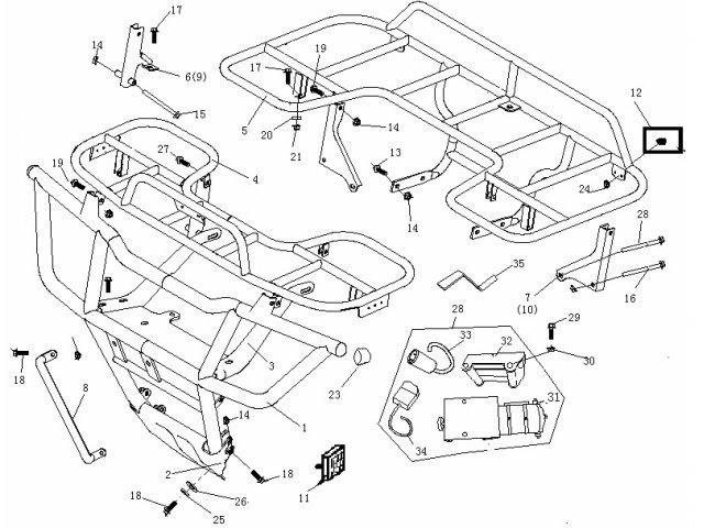Buyang FA-D300 Frontbumper-Gepaecktraeger