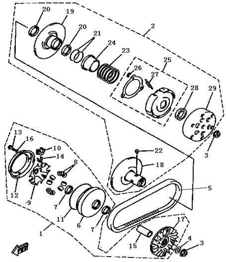 Kupplung Buyang FA-D300