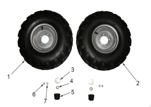 Kinderquad Reifen Speedbird 8 Zoll