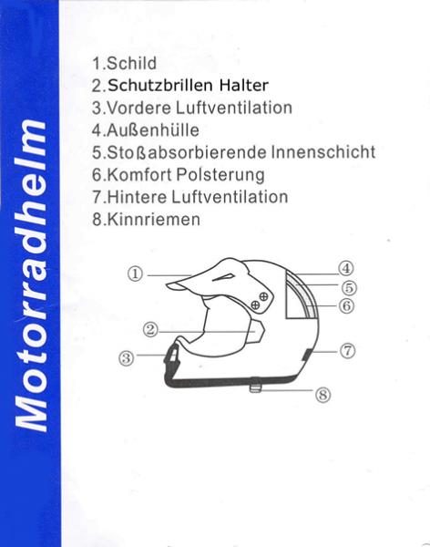 Kinder Helm Cross Helm Details