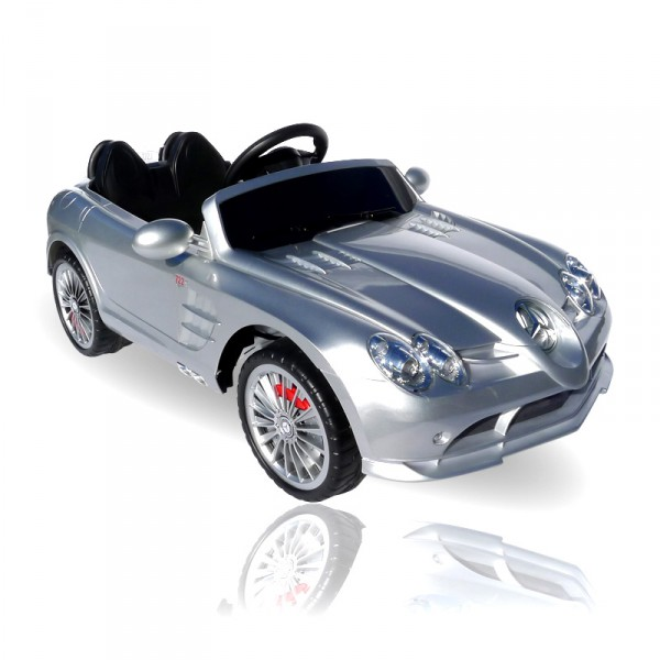 kinderauto elektrisch mercedes slr mit fernbedienung und sound kinderfahrzeuge 2 4 jahre. Black Bedroom Furniture Sets. Home Design Ideas