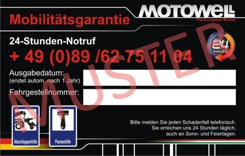 Motorroller Mobilitätsgarantie von Motowell