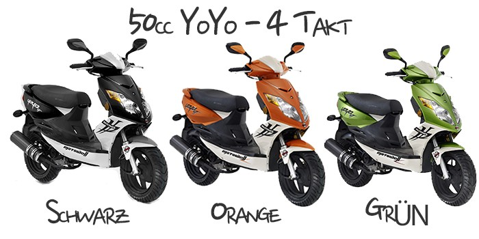 motorroller 50cc yoyo 4 takt 45 km h von motowell. Black Bedroom Furniture Sets. Home Design Ideas