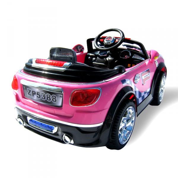kinderauto mini style f r m dchen 5388 2 x 30 watt motor. Black Bedroom Furniture Sets. Home Design Ideas