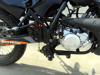 Skyteam 50ccm Cross Bike mit Straßenzulassung Kickstarter