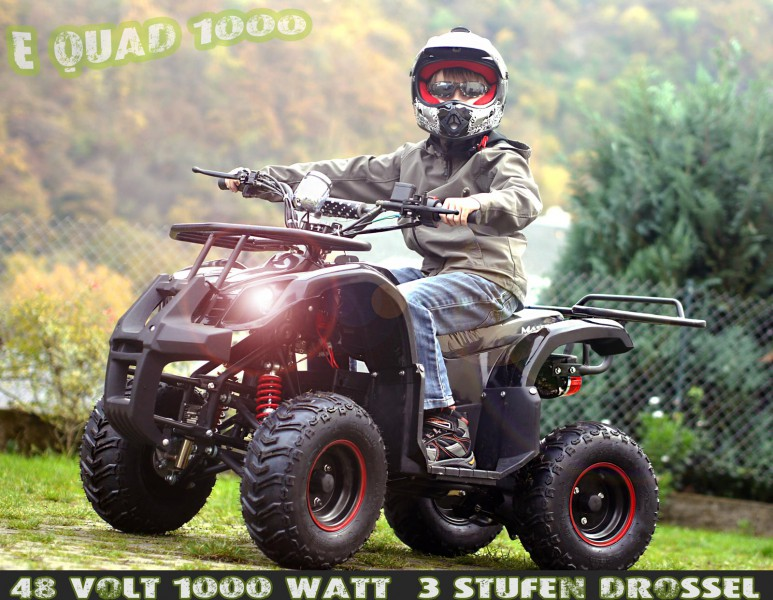 kinderquad atv elektrisch mit 1000 watt motor e quad 1000. Black Bedroom Furniture Sets. Home Design Ideas