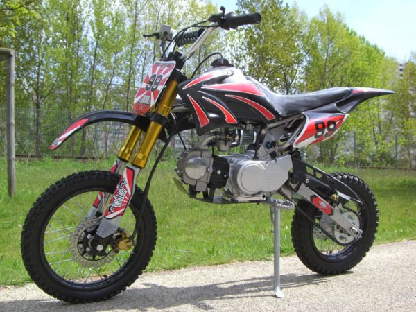 dirtbike cross bike 125 ccm 17 14 reifen pocket bike dirtbike. Black Bedroom Furniture Sets. Home Design Ideas