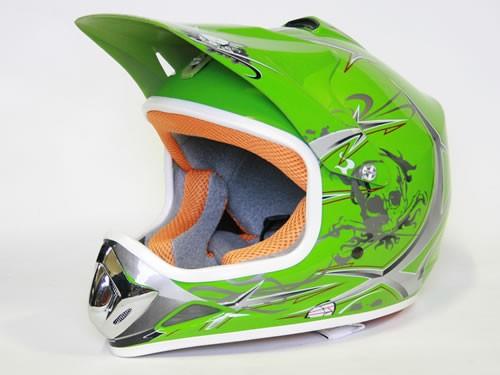 kinder helm cross helm f r kinderquad pocketbike gr n. Black Bedroom Furniture Sets. Home Design Ideas
