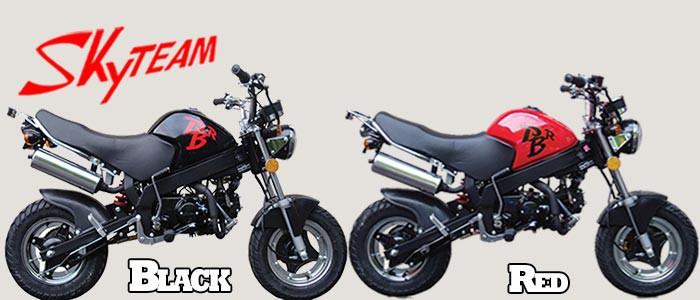 skyteam pbr 125 mini motorrad mit 125ccm skyteam. Black Bedroom Furniture Sets. Home Design Ideas