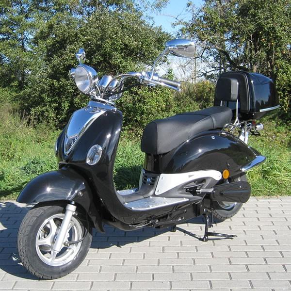 elektro motorroller 1500 watt retro e scooter znen motorroller mofa. Black Bedroom Furniture Sets. Home Design Ideas