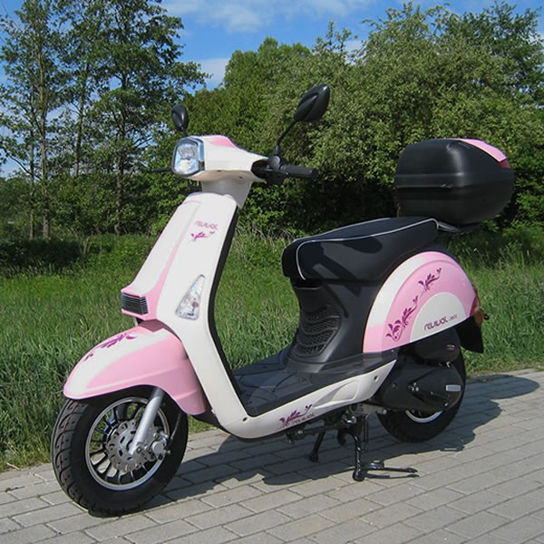 motorroller 45 km h girly revival 50 ccm m dchen roller in pink motorroller mofa. Black Bedroom Furniture Sets. Home Design Ideas